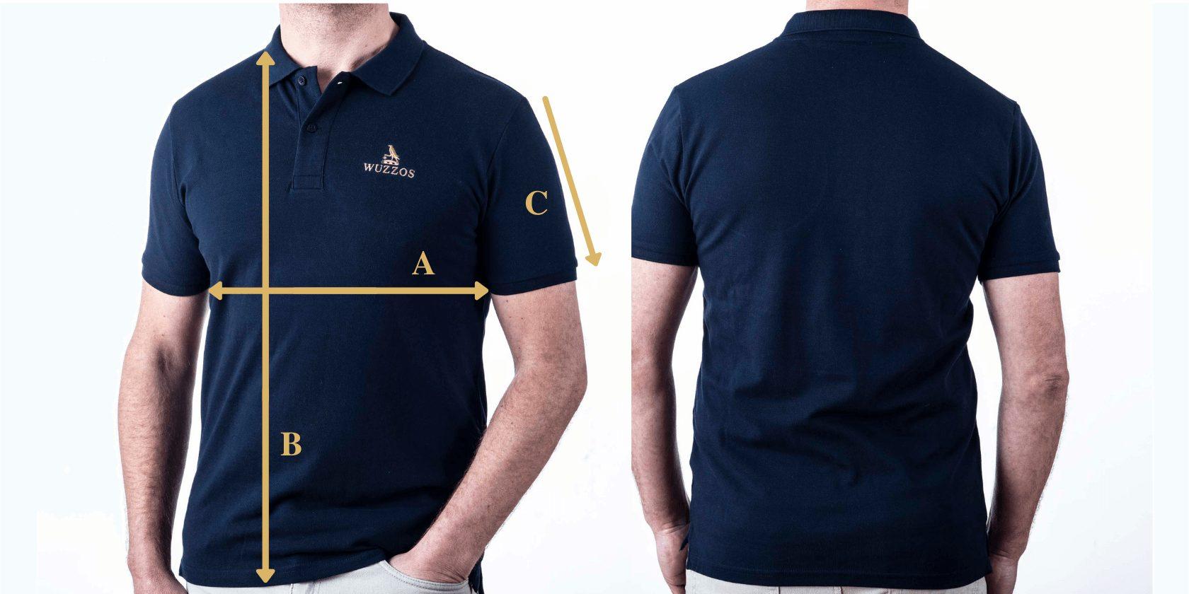 Men's Polo Shirt Size Guide Wuzzos
