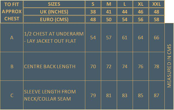 Men's Soft Shell Jacket Size Guide Wuzzos